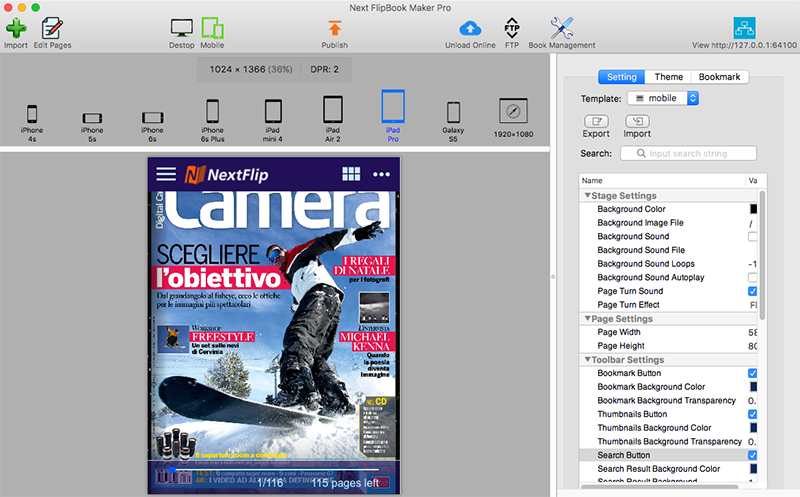 Next FlipBook Maker Pro for Mac