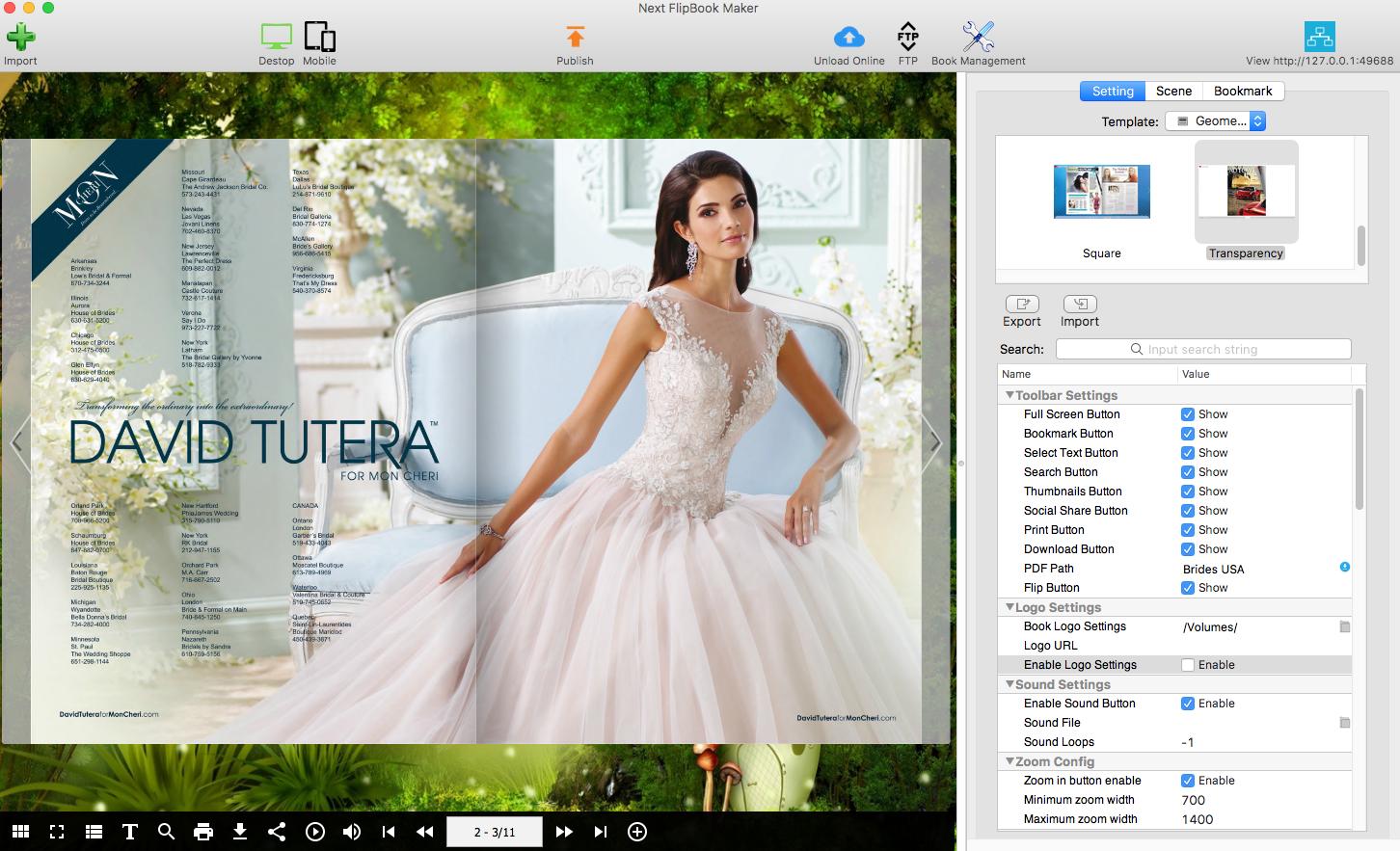convert pdf to html5 flipbook free mac